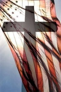 American Flag and the Cross
