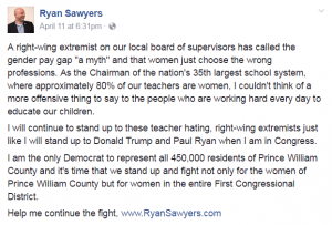 PWC School Board Chairman Ryan Sawyers